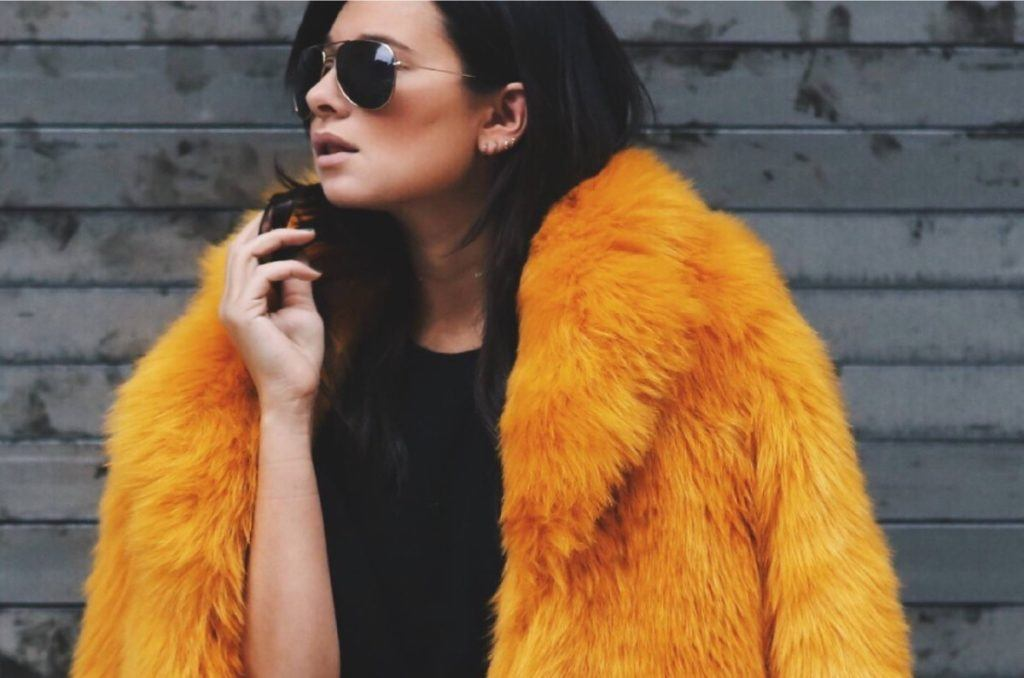 ECOPEL faux fur coat made from recycled plastics